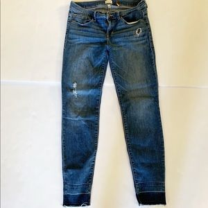 Sneak Peek size 9 low rise jeans raw hem